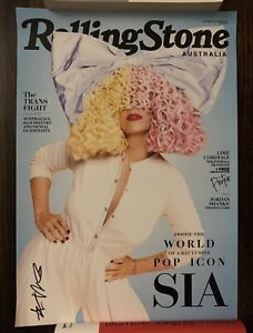 Sia Signed Autograph Music Rolling Stone Poster