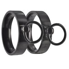 2 NERI S & M BDSM Anello dell'O Master sub slave anelli interni incisione incl. 20p062