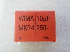 1 condensateur 10uF 250V 10% Wima MKP-4