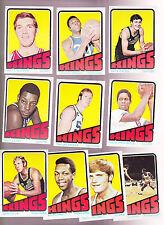 1972 /  73 Topps NBA Team Set Lot of 10 Cincinnati K.C. KINGS NM- Tiny GUOKAS