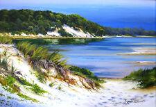 Robyn Collier original oil titled 'Coastal Scene'. NSW coast, Australia