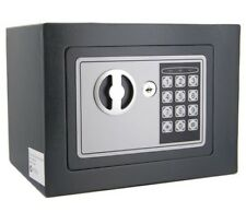 Personal Electronic Safe Security Box with Digital Code + Access Key - Grey