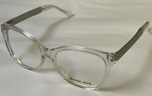 Michael Kors Clementine Eyeglasses MK 8015F 3094 54.16 140 Clear Silver Frames