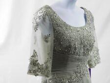 NEW J J S House, womens silver dress 12, formal wedding anniversary  full length