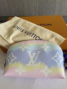 💝💯 Louis Vuitton LV Escale Pochette Pink Pastel Cosmetic Pouch 💖