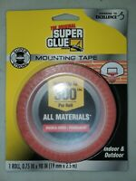 SUPER GLUE 11710506 98X0 75 ROLL SUPER STRONG MOUNTING TAPE