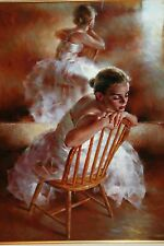 "STEPHEN PAN LIMITED EDITION GICLEE ""PROVIDENCE"" BALLET SITTING BALLERINA #71/295"