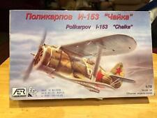 AER Polikarpov I-153 Chaika Soviet fighter 1/72 Scale Plastic Model Kit Read