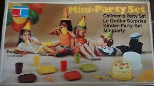 Vintage Tupperware Toys Mini Party Set 10 Piece For Children 1982