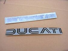 Ducati bevel twins 860 GT -s set metal tank badges original nos