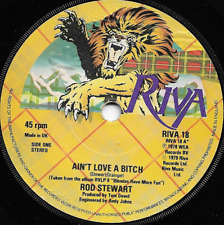 ROD STEWART - AIN'T LOVE A BITCH / SCARRED & SCARED - 70S BRITISH POP ROCK 1979