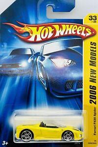 2006 Hot Wheels New Models 33/38 Yellow Ferrari F430 Spider Card # 33/223
