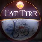 """FAT TIRE BEER LED """" GHOST RIDER IN MOTION """" BAR LIGHT PUB SIGN MAN CAVE BREWERY"""