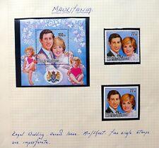 MAURITANIA 1981 Royal Wedding on 2 Pages Error Variety U/M NC1285