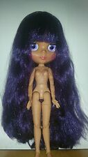 "Nude Factory 12"" Neo Blythe doll tan with purple hair UK SELLER jointed body"
