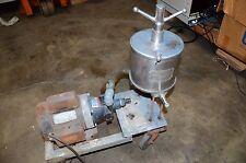 Alsop Engineering Filtration System March Pump Leeson Motor TE-5-5C-MC Filter