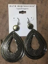 Earrings Hypo Allergenic Pure Expressions Hoop Decorative