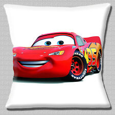 "CARS 2 FILM RACECAR 'LIGHTNING MCQUEEN' CHARACTER PRINT 16"" Pillow Cushion Cover"