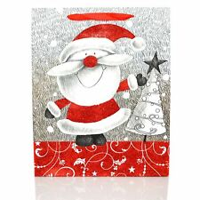 3 x Medium Luxury Christmas Gift Bags -Decorative Glitter Paper Bag Party Gifts