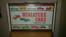 Vintage 1966 Miniature Car Carrying Case Mattel w/ 2 Display Cases Holds 40 Cars
