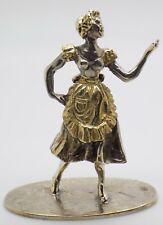 More details for vintage solid silver italian made commedia dell'arte colombina figurine hallmark
