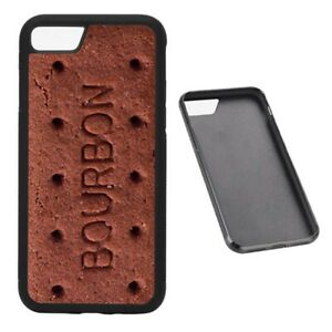 Funny Bourbon Biscuit RUBBER phone case fits iPhone