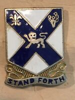 WWII 12th Infantry Regiment DI Pin Stand Forth Military Vintage