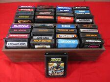 33 Vintage ATARI Game Cartridges & Storage Boxes Space Invaders Asteroids ++ Lot