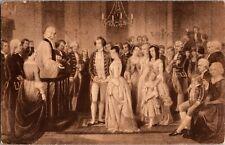 Wedding of Martha Custis & George Washington by Junius Stearns Vtg Postcard X19