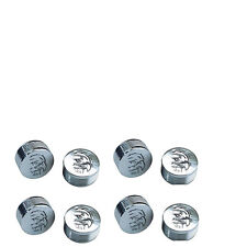 """CY-CHROME EAGLE DESIGN METAL BOLT COVERS; 3/8"""" Button Head (pack of 8)"""