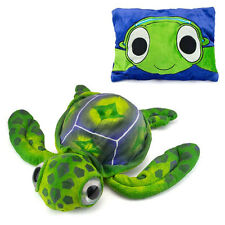 Peek A Boo My First Pillow Travel Buddy Pet Plush Green Sea Turtle Doll Toy 18""