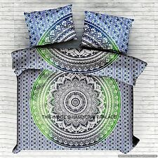 Mandala Indian Duvet Doona Cover Throw Quilt Cover Boho Queen Bedding Blanket