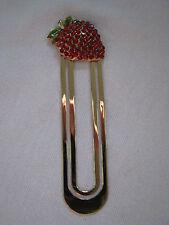 NEW Lovely Red Swarovski Crystal Strawberry Bookmark