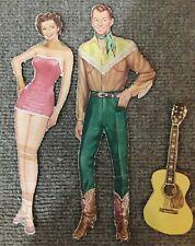 Vintage Original ROY ROGERS & DALE EVANS Paper Doll Set