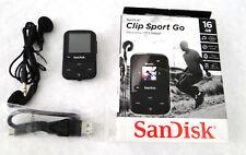 SanDisk - Clip Sport Go 16GB MP3 Player - Black