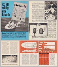 Bauplan Rennboot Elektro-Modellrennboot FX VII - Original von 1964
