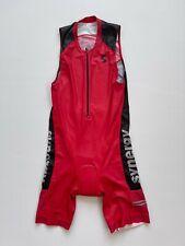 New listing Synergy Men's Triathlon Sleeveless Trisuit - Elite Cardinal, Medium