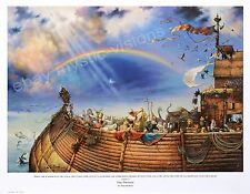 "THE PROMISE HAND SIGNED by Tom duBois Large 14.25"" x 20.25"" Image Noahs Ark"