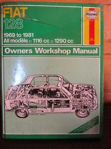 087 Haynes Manual Fiat 128 1969-1981 All Models 1116cc 1290cc