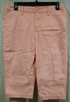 St. Johns Bay Khaki/Casual/Bermuda/Long Shorts--Peach/Mid Rise/Stretch--Size 8