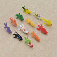 12x Mini Künstliche Fisch Modell Figuren Spielzeug Wohndeko für Baby Kinder Neu