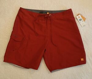 Quiksilver Board Shorts 34 Red Swim Trunks Waterman Collection Surf Beach NWT