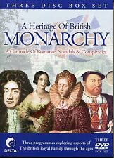 A HERITAGE OF BRITISH MONARCHY 3 DVD BOX SET, ROYAL ROMANCES, HERITAGE, SCANDALS