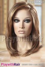 SUPERB Lace Front Designer Wig Mono Top Unique Brown Blonde Mix