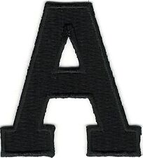 "1 7/8"" Black Monogram Block letter A Embroidery Patch"