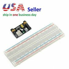 Mb102 Power Supply Module 3.3V 5V+Breadboard Board 830 Point for Arduino