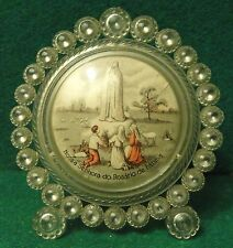 APPARITION OUR LADY OF FATIMA TO THE BLESSED SHEPHERDS Vtg DESK PLAQUE