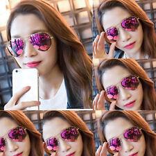 Gafas de sol aviador Oro Púrpura Mujer tipo espejo