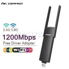 1200 Mbps Dual Band 5Ghz Wireless USB WiFi Network Adapter Antenna 802.11AC CFUS