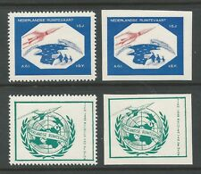 1959 HOLLAND rocket mail stamps - EZ 77A1 (2) and 79A1 (2) - MNH